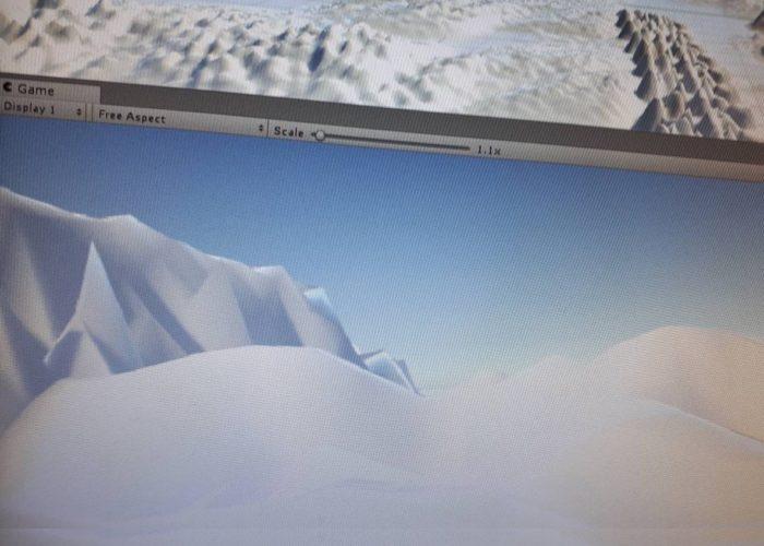 Un paysage enneigé dans le logiciel