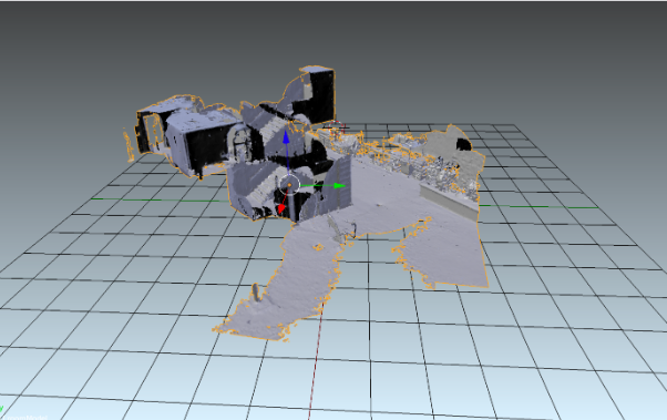 Modélisation sur blender d'un scan réalisé avec le casque Hololens(espace intérieur et extérieur)