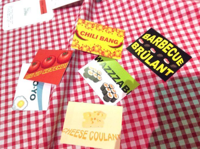 Cartes du jeu Bouillon Brochette