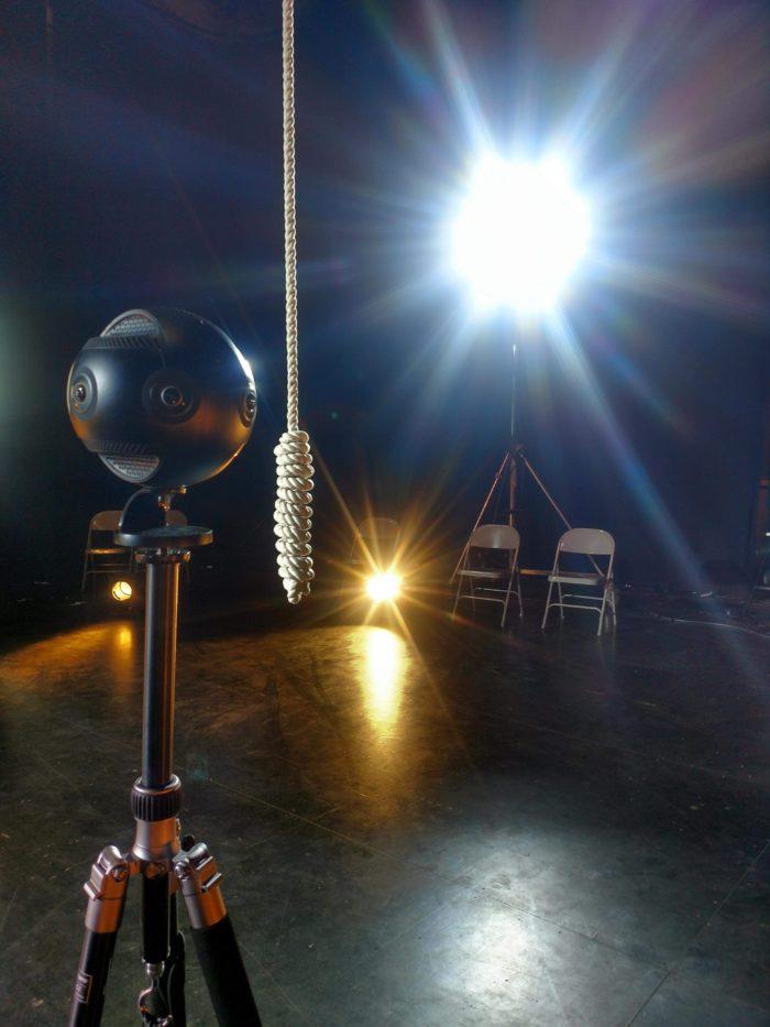Une caméra 360° sur le plateau