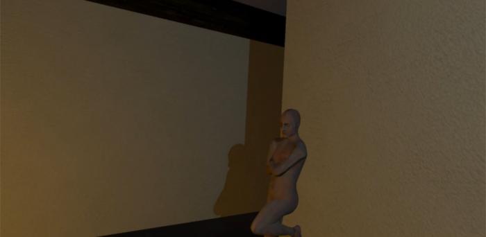 Un homme en réalité virtuelle