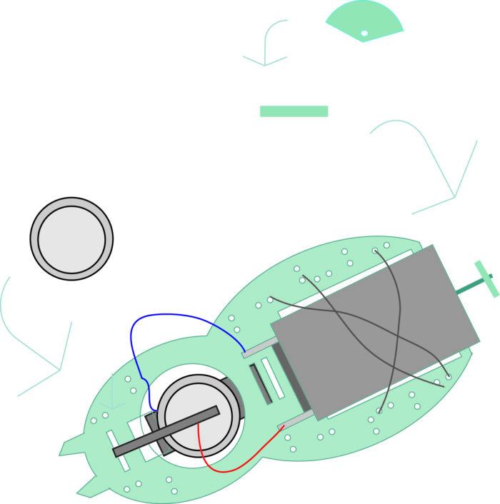 Schéma illustrant la pose du contrepoids