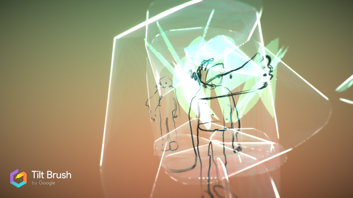 des personnages dessinés en VR