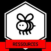 Une abeille dans un badge