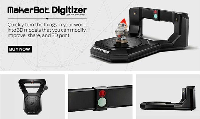 Présentation du scanner 3D Makerbot Digitizer
