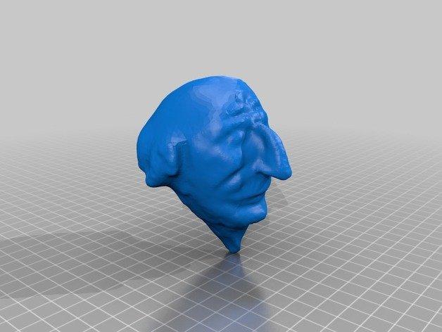 Une tête de Polichinelle en 3D