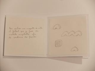 Pages intérieures d'un carnet : dessin de différentes versions de modules