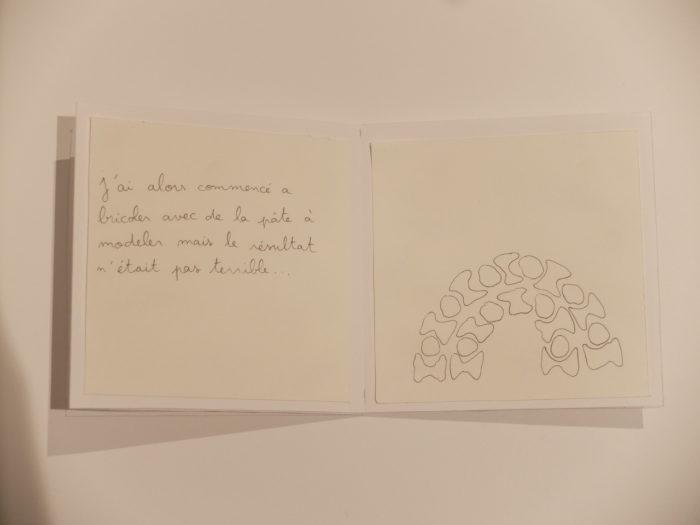 Pages intérieures d'un carnet : dessin des modules empilables