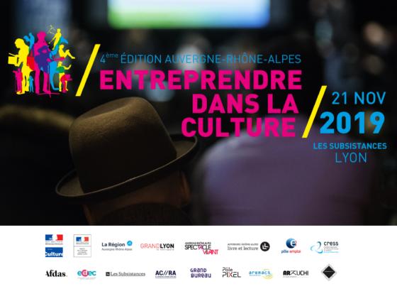 Bannière du forum Entreprendre dans la culture 2019