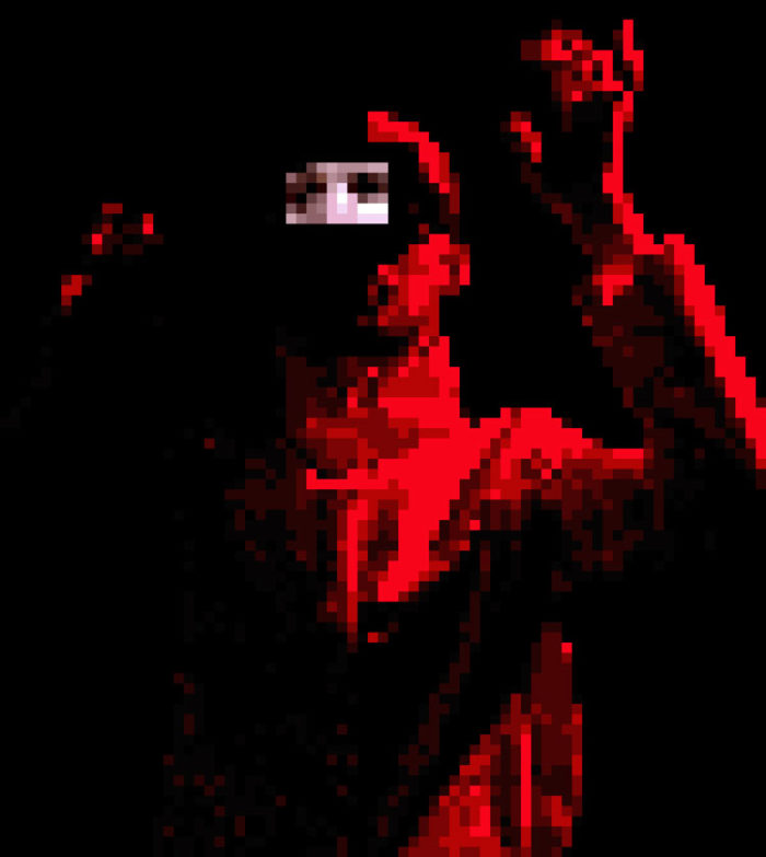 Une version pixelisée de l'acteur dans Minimax